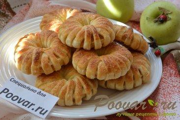 Яблочные колечки в слоеном тесте Шаг 9 (картинка)