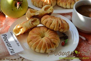 Яблочные колечки в слоеном тесте Шаг 10 (картинка)