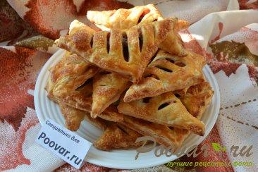 Слойки с вишней и яблоками из слоеного теста Шаг 12 (картинка)