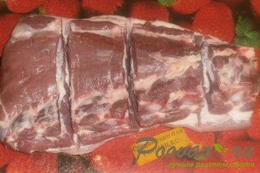 Свиная грудинка со сливовой аджикой и чесноком Шаг 2 (картинка)