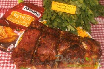 Свиная грудинка со сливовой аджикой и чесноком Шаг 10 (картинка)