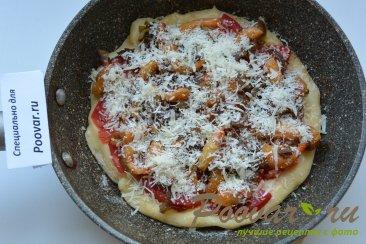 Быстрая пицца на сковороде с креветками Шаг 11 (картинка)