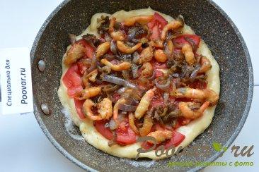 Быстрая пицца на сковороде с креветками Шаг 10 (картинка)