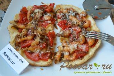 Быстрая пицца на сковороде с креветками Шаг 13 (картинка)