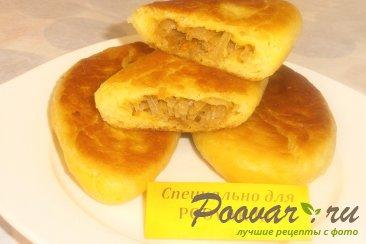 Пирожки с капустой из тыквенного теста Изображение