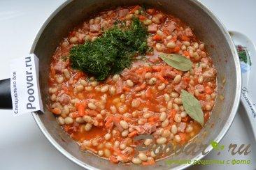 Фасоль с колбасками в томатном соусе Шаг 6 (картинка)