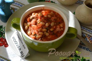 Фасоль с колбасками в томатном соусе Шаг 8 (картинка)