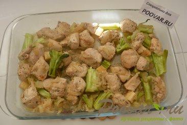 Куриная грудка с брокколи запеченная под сливочным соусом Шаг 8 (картинка)