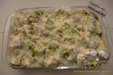 Куриная грудка с брокколи запеченная под сливочным соусом Шаг 10 (картинка)