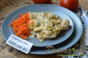 Куриная грудка с брокколи запеченная под сливочным соусом Шаг 12 (картинка)