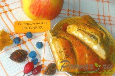 Слойки с творогом, тыквой и яблоками Изображение