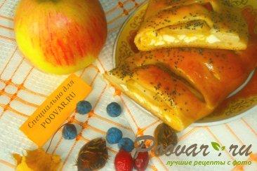 Слойки с творогом, тыквой и яблоками Шаг 17 (картинка)