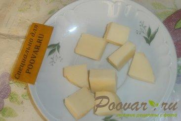 Пончики из тыквенного теста с луком и сыром моцарелла Шаг 3 (картинка)