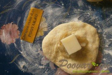 Пончики из тыквенного теста с луком и сыром моцарелла Шаг 6 (картинка)