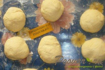 Пончики из тыквенного теста с луком и сыром моцарелла Шаг 5 (картинка)