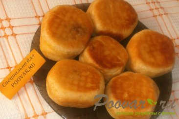Пончики из тыквенного теста с луком и сыром моцарелла Шаг 10 (картинка)