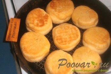 Пончики из тыквенного теста с луком и сыром моцарелла Шаг 9 (картинка)