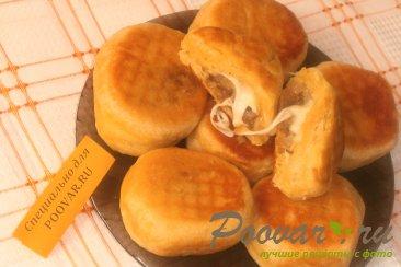 Пончики из тыквенного теста с луком и сыром моцарелла Шаг 11 (картинка)
