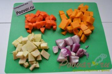 Тыквенный суп-пюре с креветками Шаг 2 (картинка)