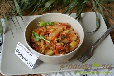 Кольраби тушеная с овощами Изображение