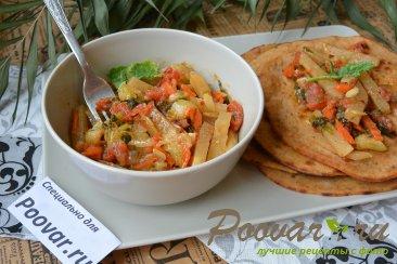 Кольраби тушеная с овощами Шаг 9 (картинка)