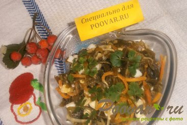 Салат из морской капусты с грибами Шаг 7 (картинка)