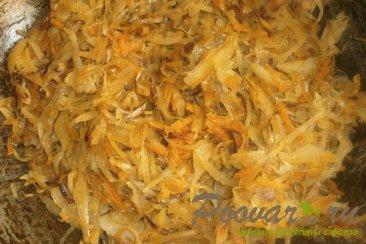 Слойки с капустой и сосисками Шаг 7 (картинка)