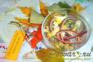 Салат из селёдки и яиц Шаг 9 (картинка)