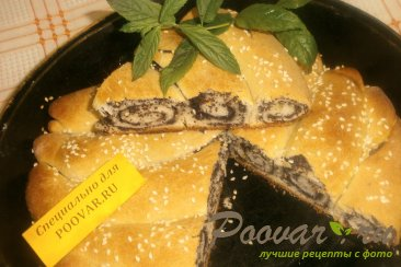 Пирог из рулетов с маком Шаг 12 (картинка)