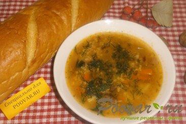 Суп с пшеном и солёными помидорами Изображение