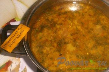 Суп с пшеном и солёными помидорами Шаг 14 (картинка)