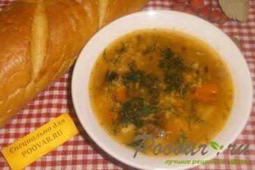 Суп с пшеном и солёными помидорами Шаг 15 (картинка)
