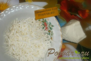 Лепёшки с моцареллой и грибами Шаг 4 (картинка)