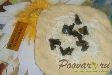 Лепёшки с моцареллой и грибами Шаг 9 (картинка)