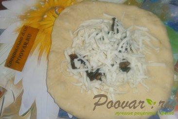 Лепёшки с моцареллой и грибами Шаг 10 (картинка)