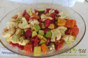 Куриная печень в духовке с овощами Шаг 3 (картинка)