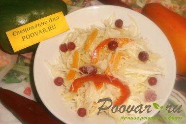 Маринованная капуста с перцем и луком на зиму Изображение