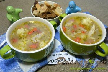Куриный суп с сырными клецками Изображение