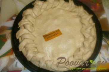 Пирог с грушей и творогом из дрожжевого теста Шаг 12 (картинка)