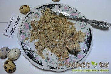 Салат из рыбных консервов с картофелем и яйцом Шаг 2 (картинка)