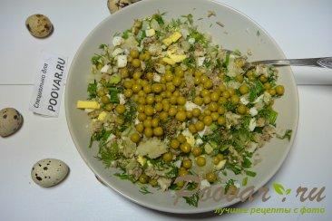 Салат из рыбных консервов с картофелем и яйцом Шаг 4 (картинка)