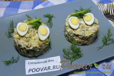 Салат из рыбных консервов с картофелем и яйцом Шаг 7 (картинка)