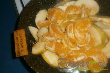 Пирог с яблоками и мандаринами Шаг 6 (картинка)