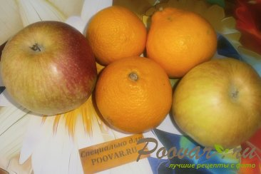 Пирог с яблоками и мандаринами Шаг 3 (картинка)