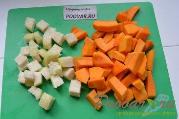 Суп-пюре из тыквы и кольраби Шаг 1 (картинка)