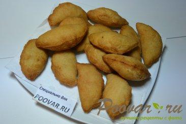Пирожки с творогом и сыром из дрожжевого теста Шаг 13 (картинка)