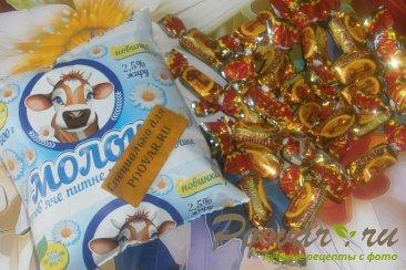 Карамельные кексы с сухофруктами и мармеладом Шаг 1 (картинка)