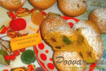 Карамельные кексы с сухофруктами и мармеладом Изображение