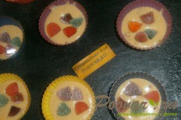 Карамельные кексы с сухофруктами и мармеладом Шаг 13 (картинка)