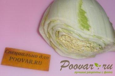 Пирог с пекинской капустой из слоёного теста Шаг 1 (картинка)